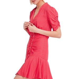 Free People Pippa Polka-Dot Dress